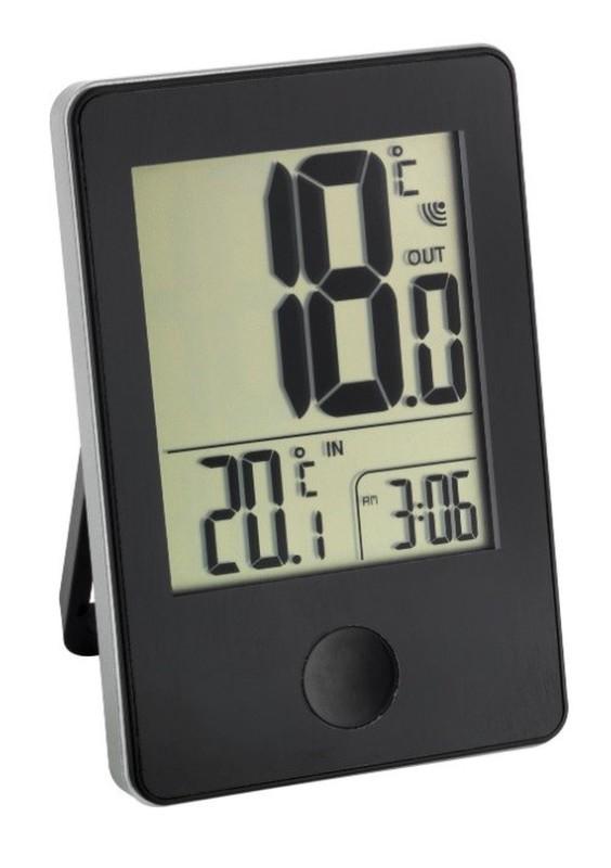 Termometer med trådlös klocka TFA 30.3051.01