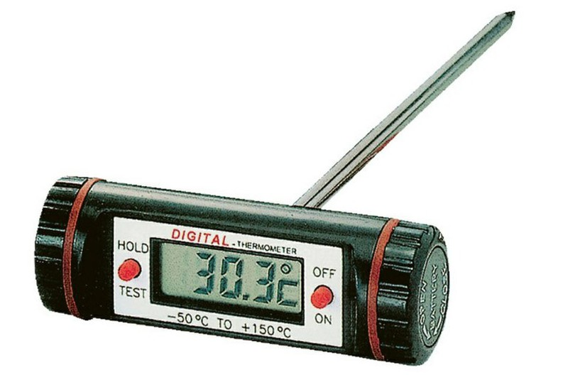Termometer med rostfritt stål sond T huvud