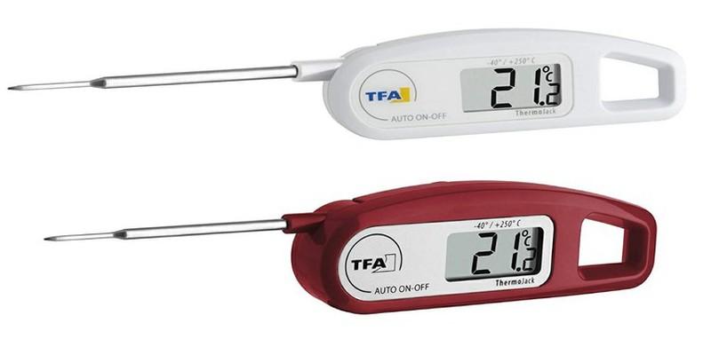 Digital termometer med sond i rostfritt stål