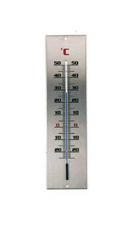 Utomhustermometer rostfritt stål medium