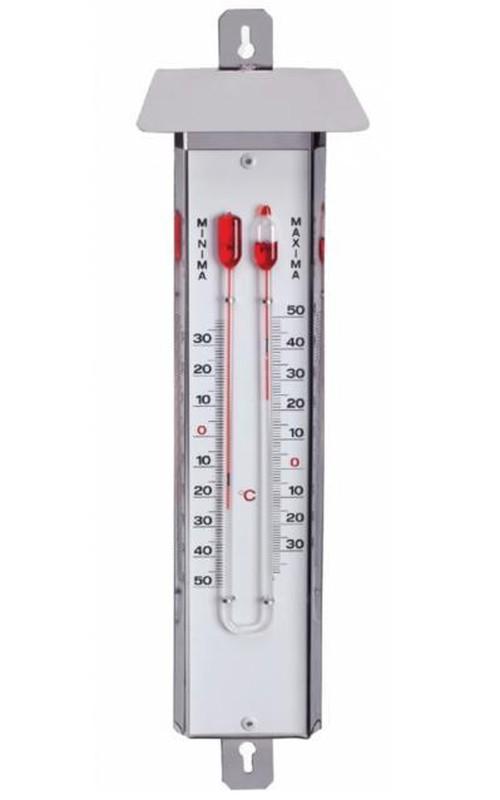 Maximalt och minimalt rostfritt stål termometer med huva