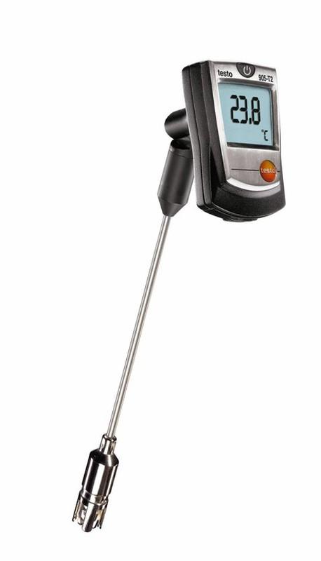 Termometro Testo 905 T2 Con Sonda Per Superfici Piane O Irregolari Raig Termometro digital refrigeracion aire acondicionado con cable sonda. termometro testo 905 t2 con sonda per superfici piane o irregolari